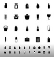 Design package icons on white background vector image