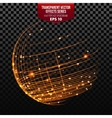 Global Network Wireframe Globe vector image