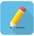 Pencil draws a line icon vector image