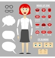 Ready to animation parts of cartoon girl vector image
