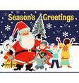 Sixties Santa vector image