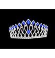 Tiara crown womens wedding on the black vector image
