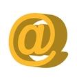 arroba symbol social icon vector image