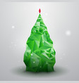 Glassy Christmas Tree vector image vector image