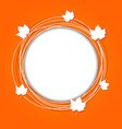 Autumn round frame with leaves maple vector image vector image