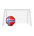 A soccer ball with the flag of Norway vector image vector image
