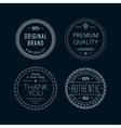 Vintage badges White vector image vector image
