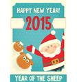 poster santa and sheep vector image vector image