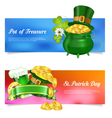 St Patrick Day Banners vector image vector image