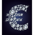 euro symbol in diamonds vector image vector image