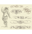 Calligraphic and ornamental designs vector image