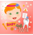 Baby First Tooth vector image