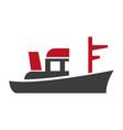 black boat emblem vector image