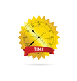 clock with gold and red vector image