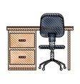 desk chair workplace image vector image