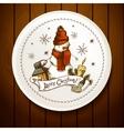 Hand-drawn Christmas Invitation Card vector image
