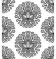 Ornamental Lotus Seamless Pattern vector image