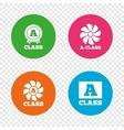 Premium level award icons A-class ventilation vector image
