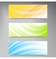 Set of modern banners with lines vector image