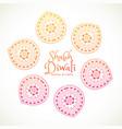 shubh diwali greeting card with paisley design vector image