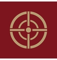 The aim bag icon Crosshair and target sight vector image