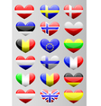 european flags heart vector image vector image