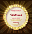 invitation with a gold decoration original design vector image