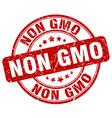 non gmo red grunge round vintage rubber stamp vector image