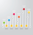 Business Infographics step design options banner vector image