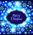 christmas card with label and snowflakes vector image
