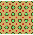 Flower geometric seamless pattern vector image