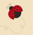 flying lady bug vector image