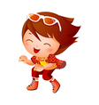 Girl wearing baseball outfit vector image
