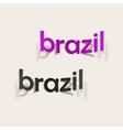 realistic design element brazil vector image