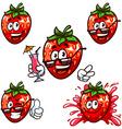 set cartoon character - Happy strawberry vector image