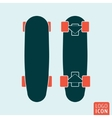 Skateboard icon isolated vector image