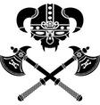 fantasy viking helmet vector image