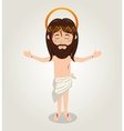 ascension jesus christ crown desing vector image