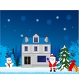 Holiday cristmas in winter vector image vector image