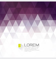 colorful fade triangle with white space for text vector image