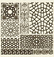 arabesque design set vector image vector image