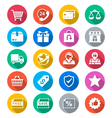 E-commerce flat color icons vector image