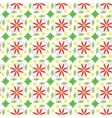 seamless pattern leaves and flowers vector image