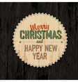 merry xmas design on wooden background vector image vector image