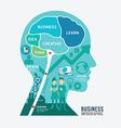 infographics brain design business diagram templat vector image vector image