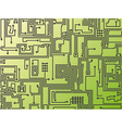 abstract circuit board background vector image