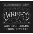 vintage label font Whisky style vector image