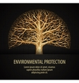 leafless tree ecology nature environment vector image