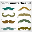 A stylish retro mustaches set vector image