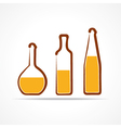 Abstract yellow wine bottles vector image
